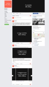 Facebooks-størrelser