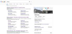 Resultatside på Google