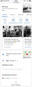 Bedriftsprofilen til Semway på mobil