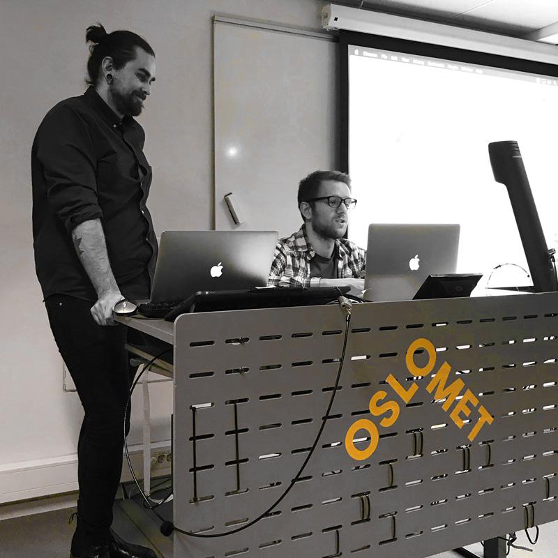 to av utviklerne fra semway hos Oslo Met
